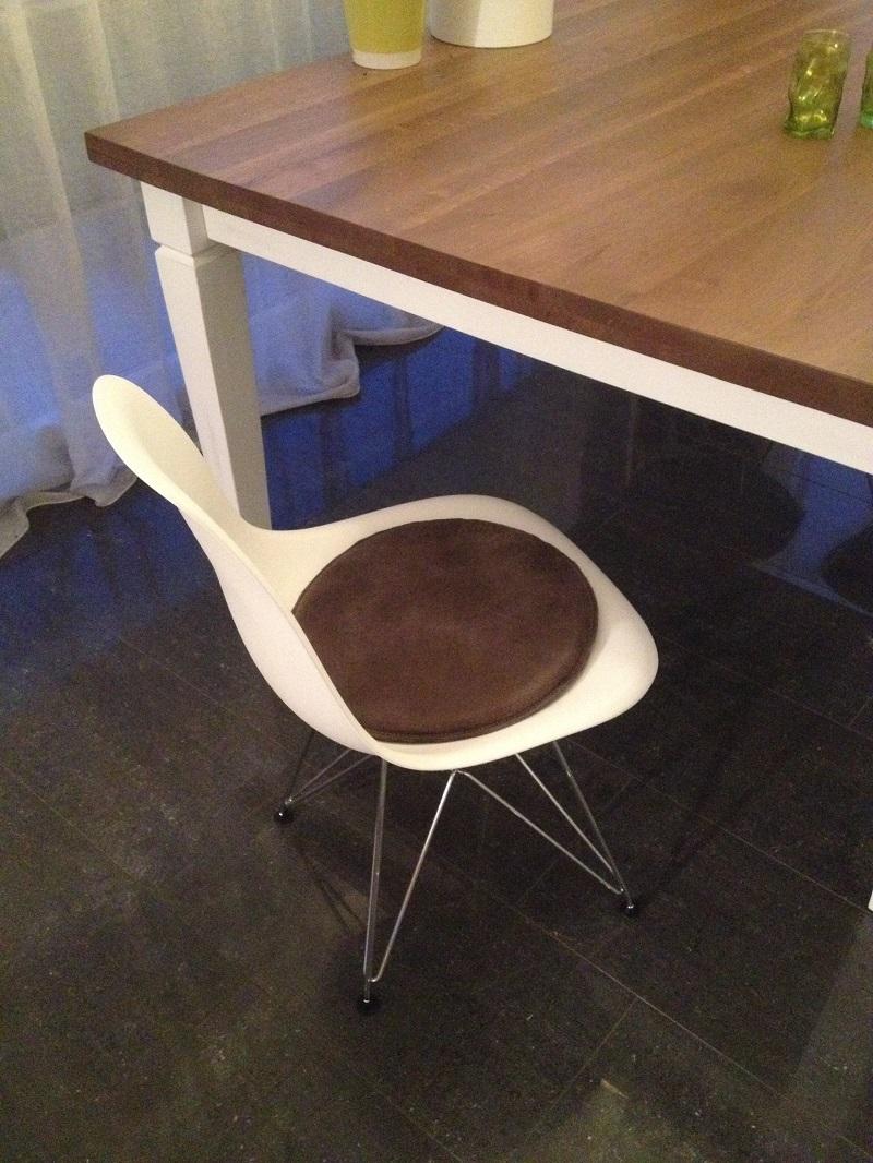 sitzkissen f r stuhl leder oder stoff. Black Bedroom Furniture Sets. Home Design Ideas